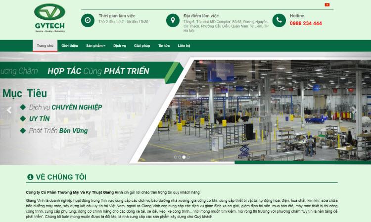Thiết kế website giới thiệu công ty - NDWEB001506