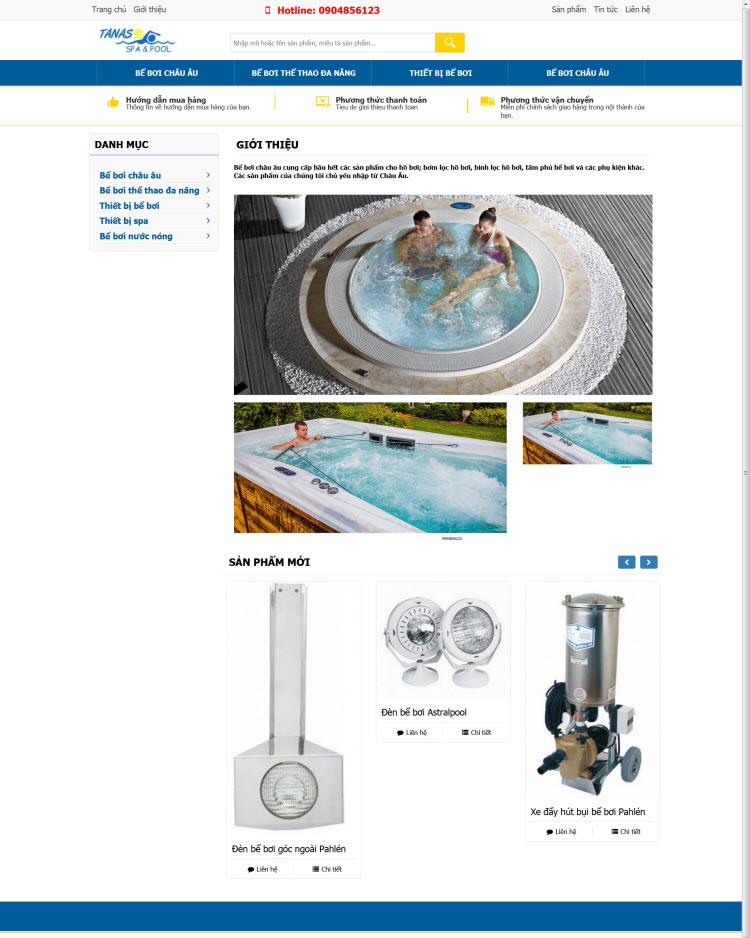 Website dịch vụ spa spool