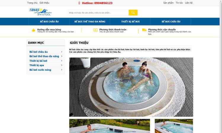 Website dịch vụ spa spool - NDWEB001575