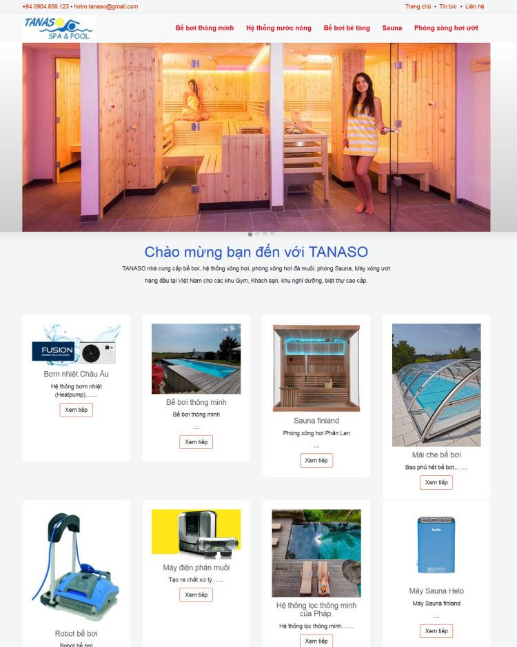 Thiết kế website thiết bị spa spool