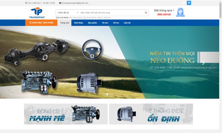 Thiết kế website phụ tùng ô tô - NDWEB001550