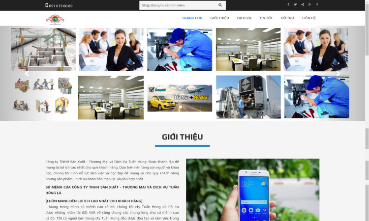 Thiết kế website công ty dịch vụ sử chữa nhà - NDWEB001560