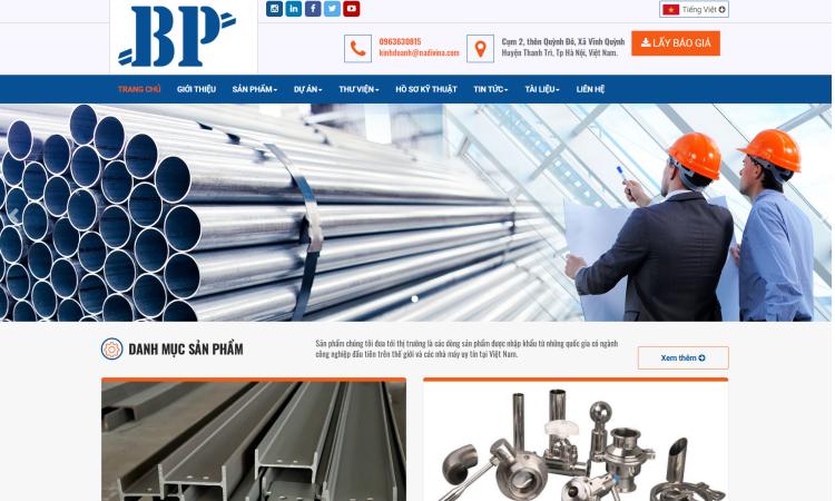 Thiết kế website giới thiệu Công ty Bình Phát - NW202002