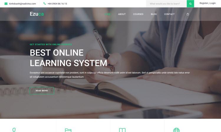 Giải pháp thiết kế web ngành giáo dục